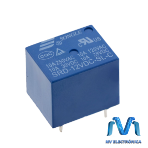 RELEVADOR RELAY DE 12V 10A SONGLE 5 PINES