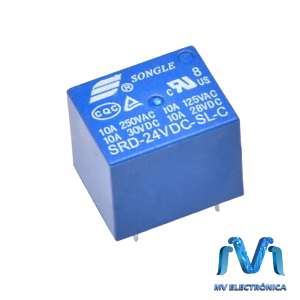 RELEVADOR RELAY DE 24V 10A SONGLE 5 PINES