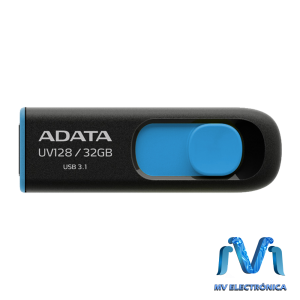 MEMORIA USB ADATA 32GB UV128 3.1 RETRACTIL NEGRO/AZUL