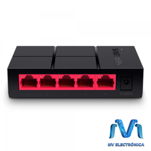 SWITCH MERCUSYS MS105G  5 PUERTOS RJ45 10/100MBS NO ADMINISTRABLE