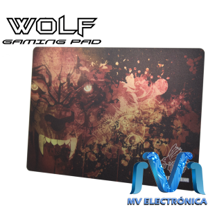 MOUSEPAD GAMING WOLF EAGLE WARRIOR, NOCTILUCENTE, 350MM X 260MM X 0.7MM