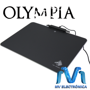 MOUSEPAD GAMING RÍGIDO OLYMPIA EAGLE WARRIOR, CONTORNO ILUMINADO LED RGB